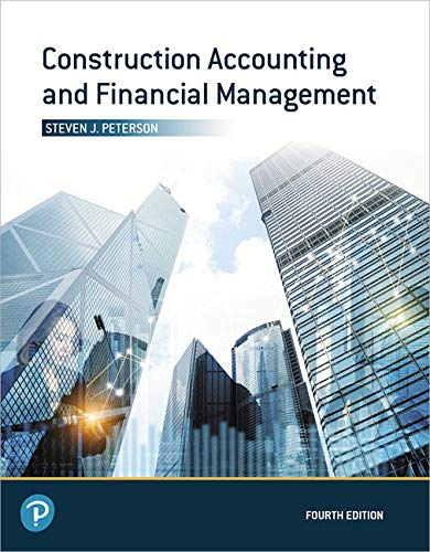 Construction Accounting and Financial Management  4th 2020 9780135232873 Front Cover