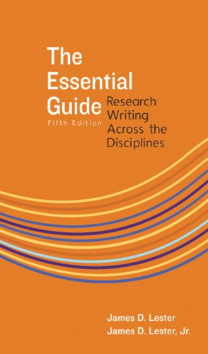 Essential Guide Research Writing Across the Disciplines 5th 2011 edition cover