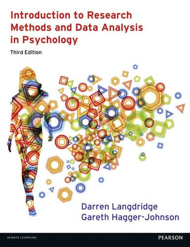 Introduction to Research Methods and Data Analysis in Psychology  3rd 2013 (Revised) 9780273756873 Front Cover
