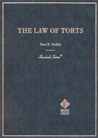 Hornbook on the Law of Torts   2000 edition cover