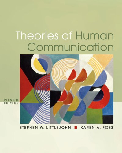 Theories of Human Communication  9th 2008 edition cover