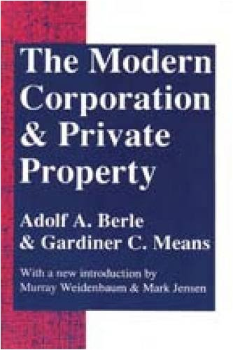 Modern Corporation and Private Property  2nd 1997 edition cover