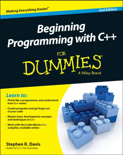 Beginning Programming with C++ for Dummies�  2nd 2015 9781118823873 Front Cover