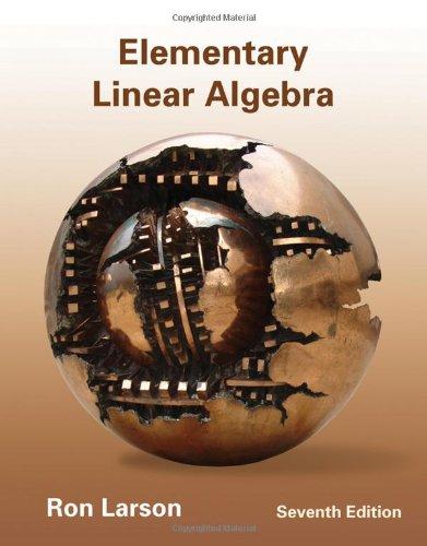 Elementary Linear Algebra  7th 2013 edition cover