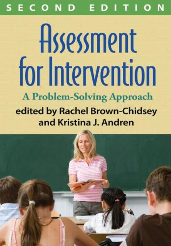 Assessment for Intervention, Second Edition A Problem-Solving Approach 2nd 2013 (Revised) edition cover