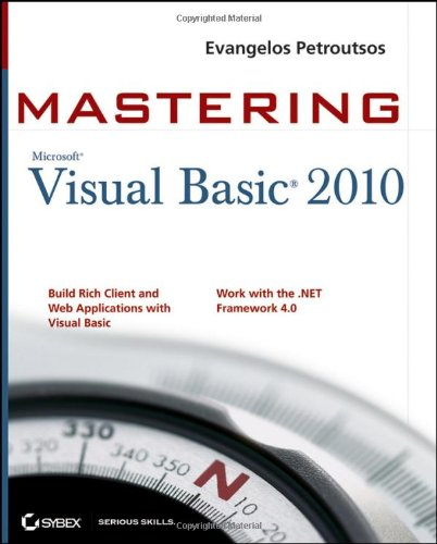 Mastering Microsoft Visual Basic 2010   2010 edition cover