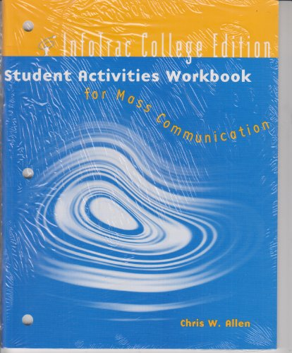 IInfotrac College Edition Student Activities Workbook for Mass Communication   2000 9780534560874 Front Cover