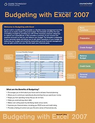 Budgeting with Microsoft Office Excel 2007  N/A 9780538757874 Front Cover