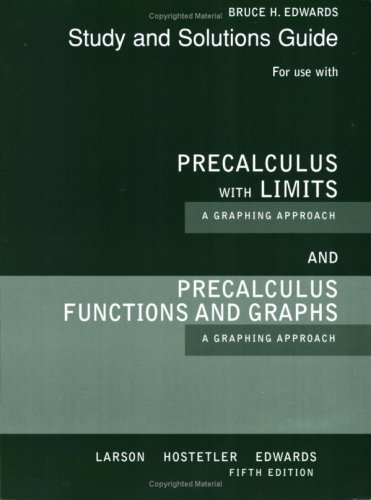 Precalculus with Limits A Graphing Approach 5th 2008 edition cover