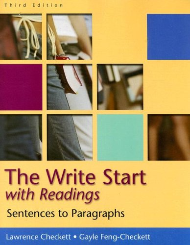 Write Start with Readings Sentences to Paragraphs 3rd 2006 9780618918874 Front Cover