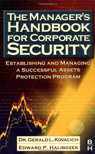 Manager's Handbook for Corporate Security Establishing and Managing a Successful Assets Protection Program  2002 edition cover
