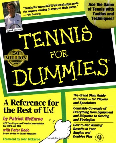 Tennis for Dummies   1998 edition cover