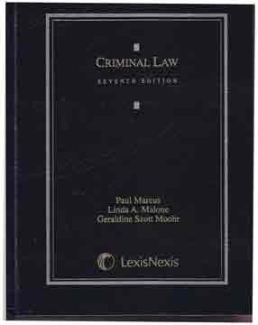 Criminal Law  7th 2012 edition cover
