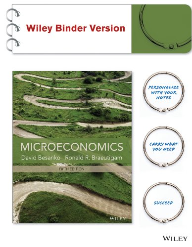 Microeconomics  5th 2014 9781118488874 Front Cover