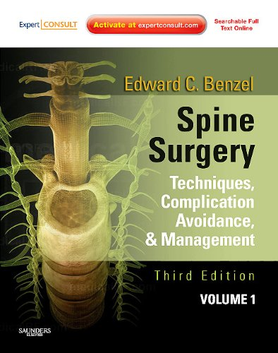 Spine Surgery Techniques, Complication Avoidance and Management 3rd 2012 edition cover
