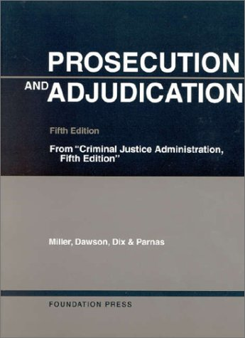 Prosecution and Adjudication  5th 2000 (Revised) edition cover