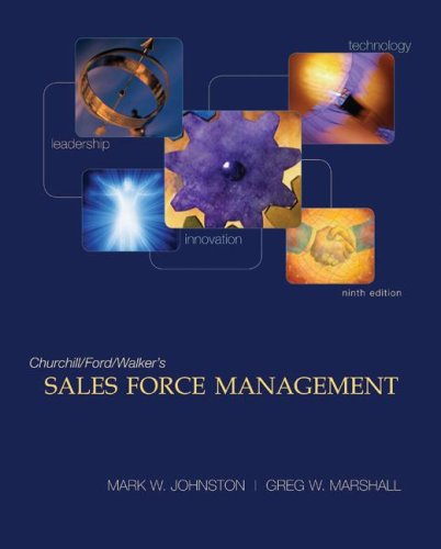 Sales Force Management  9th 2009 edition cover