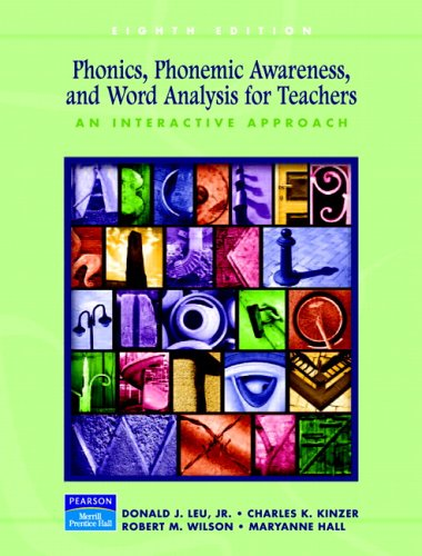 Phonics, Phonemic Awareness, and Word Analysis for Teachers An Interactive Tutorial 8th 2006 (Revised) edition cover