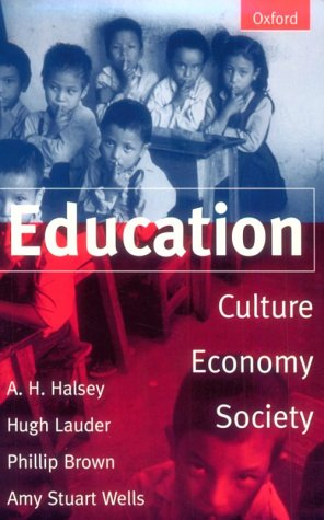 Education Culture, Economy, and Society  1997 edition cover