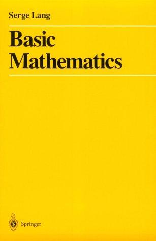 Basic Mathematics   1988 edition cover