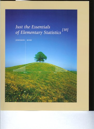Just the Essentials of Elementary Statistics  10th 2007 (Student Manual, Study Guide, etc.) edition cover