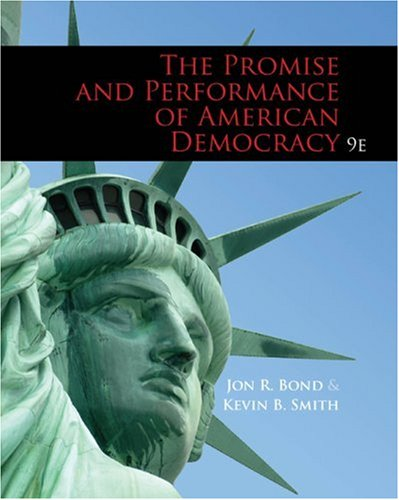 Promise and Performance of American Democracy  9th 2010 edition cover