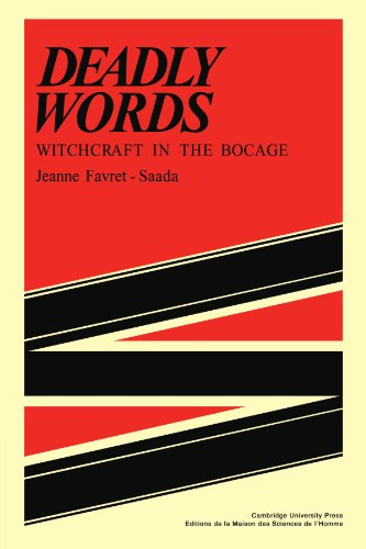 Deadly Words Witchcraft in the Bocage  1980 edition cover