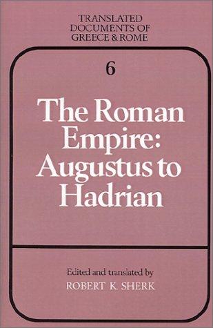 Roman Empire Augustus to Hadrian  1988 edition cover