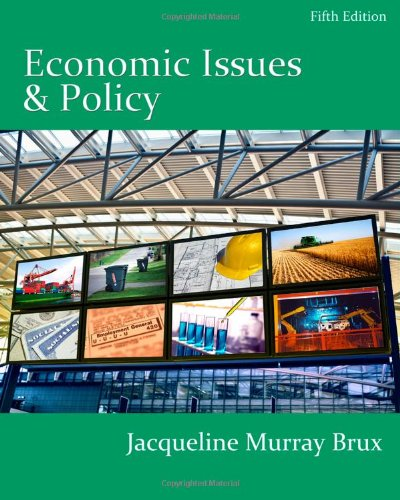 Economic Issues and Policy (with InfoApps 2-Semester Printed Access Card)  5th 2011 9780538750875 Front Cover