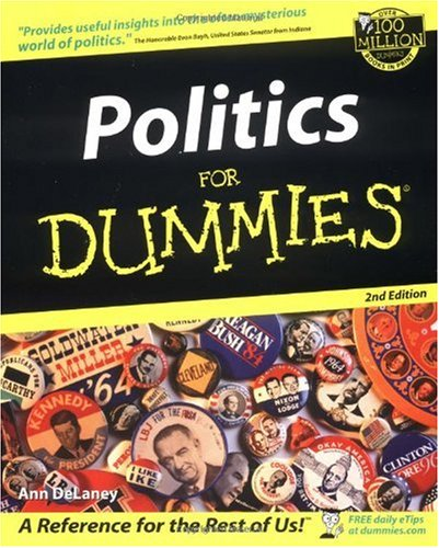 Politics for Dummies  2nd 2002 (Revised) edition cover