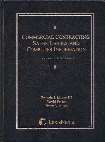 Commercial Contracting Sales, Leases, and Computer Information 2nd 2008 edition cover