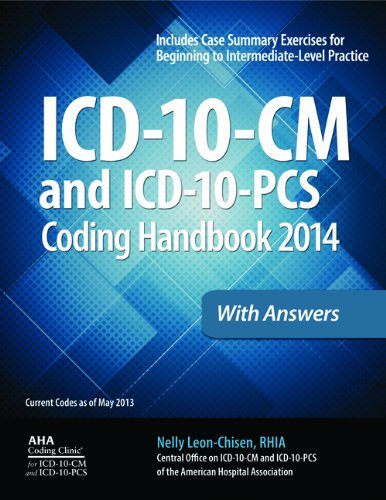 ICD-10-CM and ICD-10-PCS Coding Handbook, 2014 Ed. , with Answers   2013 edition cover