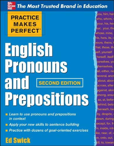 English Pronouns and Prepositions  2nd 2011 edition cover