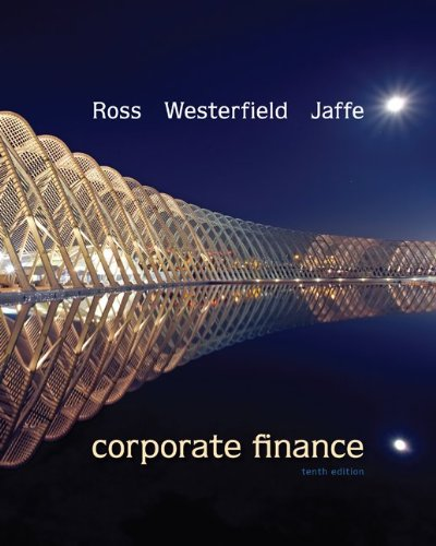 Loose Leaf Corporate Finance with Connect Plus  10th 2013 edition cover