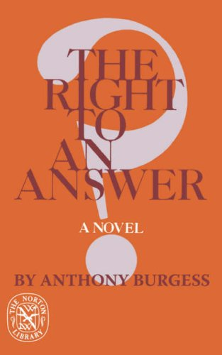 Right to an Answer  N/A 9780393008876 Front Cover