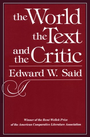 World, the Text, and the Critic   1983 edition cover