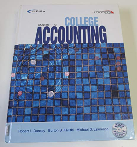 COLLEGE ACCT.,CHAPTERS 1-12-TE N/A 9780763834876 Front Cover