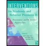 Interventions for Academic and Behavior Problems II : Preventive and Remedial Approaches 2nd 2002 edition cover