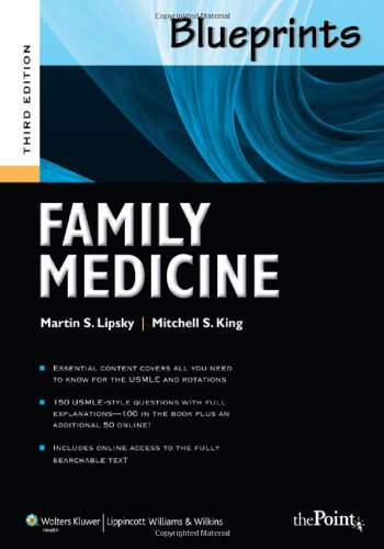 Blueprints Family Medicine  3rd 2011 (Revised) 9781608310876 Front Cover