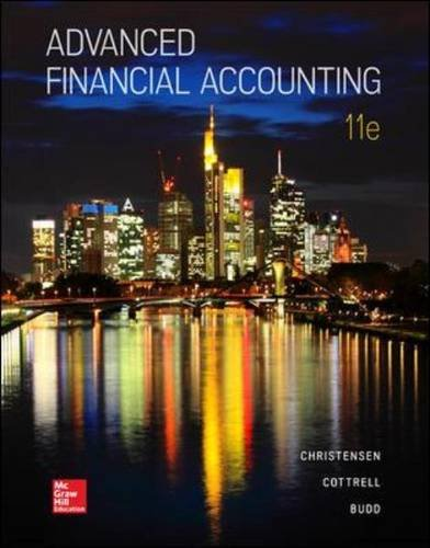 Advanced Financial Accounting  11th 2016 9780078025877 Front Cover