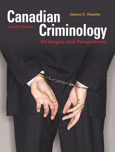 CANADIAN CRIMINOLOGY >CANADIAN 4th 2007 edition cover