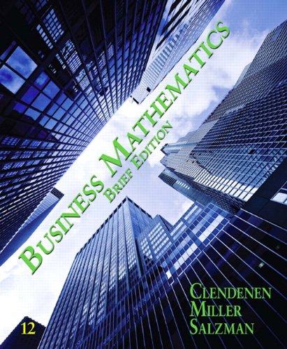 Business Mathematics Brief  12th 2012 edition cover