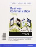 Business Communication Today + Mybcommlab With Pearson Etext: Student Value Edition  2015 edition cover