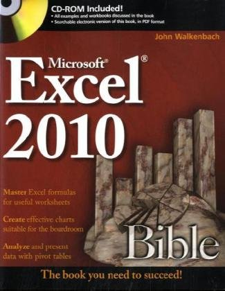 Excel 2010 Bible   2010 edition cover