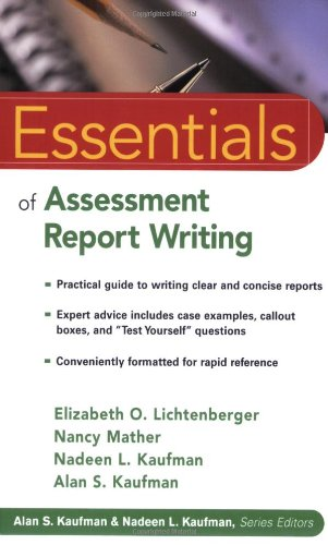 Essentials of Assessment Report Writing   2004 edition cover