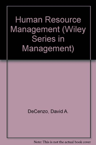 Human Resource Management Concepts and Practices 4th 1994 9780471576877 Front Cover