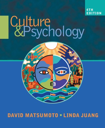 Culture and Psychology  4th 2008 edition cover