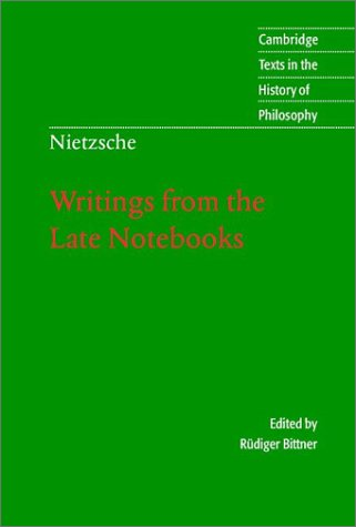 Writings from the Late Notebooks   2003 edition cover