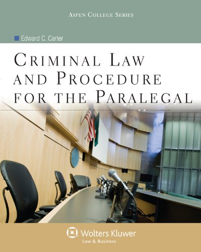 Criminal Law and Procedure for the Paralegal  N/A edition cover