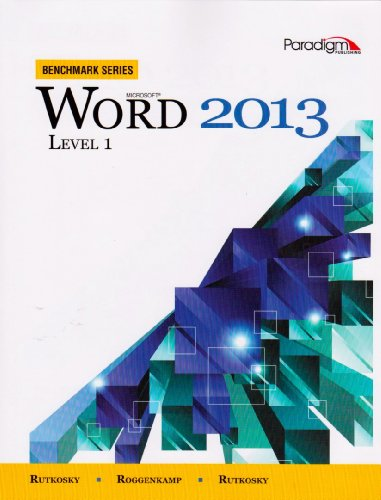 BENCHMARK SERIES:WORD 2013,LEV N/A 9780763853877 Front Cover